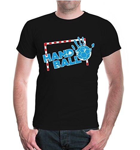 buXsbaum® T-Shirt Handball-Emblem Black-z-direct