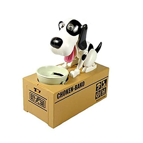 MICHAELA BLAKE Würgen Bako Robotic Dog Dog-Piggy Bank-Geld-Kasten Canine Schwarzweiß