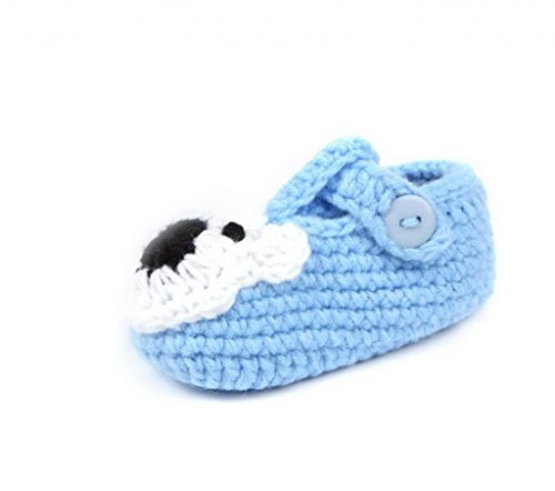 Smile YKK Gestrickte Baby Schuhe Krabbelschuhe flauschige Länge 11 cm Koala - Für Baby-schuhe Mädchen Koala