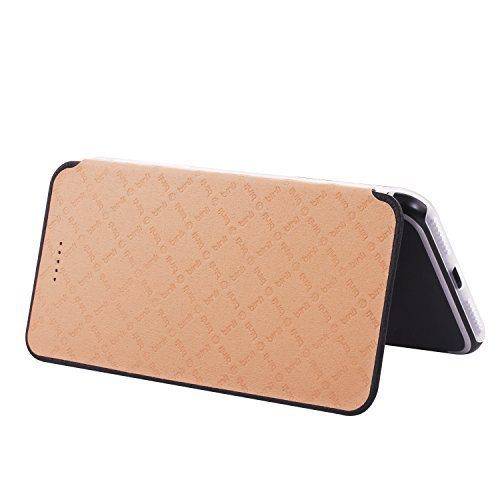 Original Binli ECHT Leder iPhone 7 Plus Schutzhülle Aluminium Rückseite Hülle Hard Cover Flip Back Case Tasche TPU - in Gold Schwarz