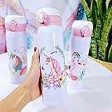 VIRTUAL WORLD Stainless Steel Unicorn Water Bottle for Kids | Vacuum Flask Insulated Steel Water Bottle for Kids, Teenagers,