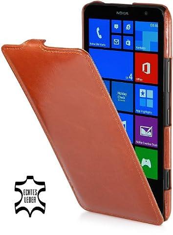 StilGut- UltraSlim Case, housse en cuir pour Nokia Lumia 1320, cognac