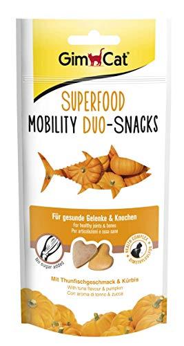 GimCat Superfood Mobility Duo-Snacks mit Thunfischgeschmack & Kürbis, 8er Pack (8 x 40 g)