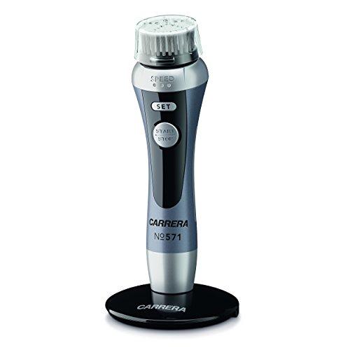 CARRERA elektrische Gesichtsreinigungsbürste No571 | 5 Aufsätze | Wasserdicht (IPX 6) | 3 Rotationsstufen | Lithium-Ionen-Akku