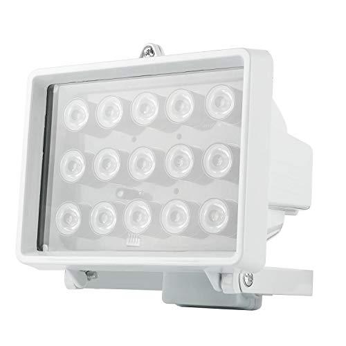 LED Infrarot Scheinwerfer Nachtsicht Night Vision IR Strahler Licht für Videoüberwachungstechnik Überwachungskameras AC230V 15W (Eisen-infrarot)