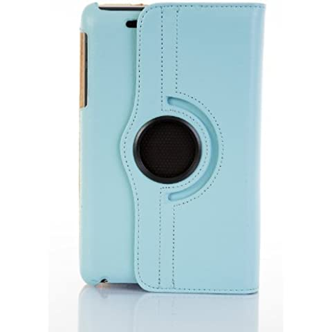 JAMMYLIZARD | Funda De Piel Giratoria 360 Grados Para Nexus 7 2012 (1ª Gen.) Smart Case, AZUL CIELO