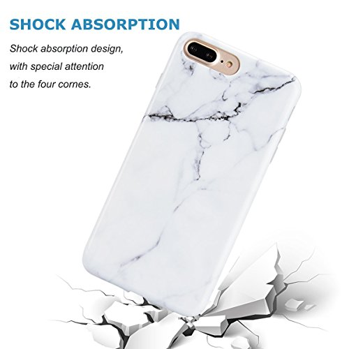 Cover Iphone 7 Plus Custodia Iphone 8 Plus Marmo Leton Tpu Silicone