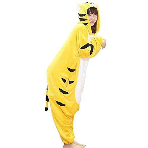 Imagen de pijamas de animales  unisexo adulto traje disfraz animal pyjamas cosplay de halloween tigre amarillo xl