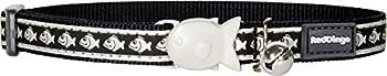 RED DINGO Collier Réfléchissant pour Chat Noir Poissons 20-32 12 mm