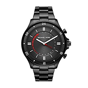 Michael Kors acceso Reid de la Hombres Negro IP híbrida Smartwatch