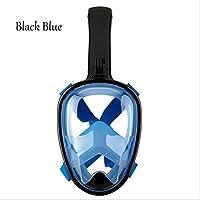 Snorkeling Equipo De Buceo Adultos Anti Niebla MáScara De Snorkeling Completamente Seca , Black Blue , s