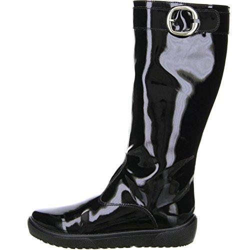 San Bernardo Damen Stiefel Lackoptik schwarz Schwarz
