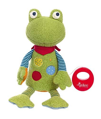 sigikid, Mädchen und Jungen, Spieluhr, Flecken Frog, Patchwork-Sweetys, Grün, 39150