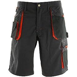 REIS Pantalons de Travail for Men |65% Polyester 35% Coton | Pantalon de Sécurité avec Elastique | Shorts de Jardinage | Taille M