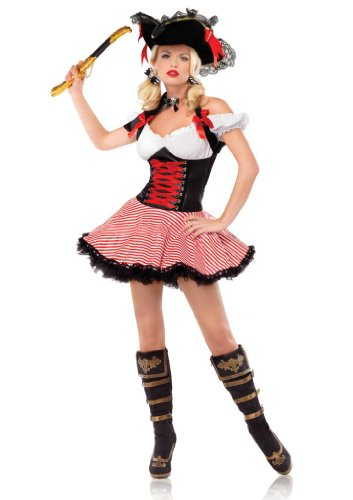 Leg Avenue 83088 - Pirate Wench Kostüm, Größe: M, - Pirate Wenches Kostüm