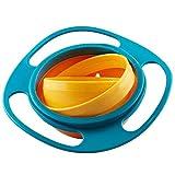 Gearmax Kinder-Geschirr zum Erlernen des, 360 Rotierenden Anti-verschütten Schwerkraft Futterschalen Konzipiert für Kinder, Gyro-Schüssel, kein Verschütten, mit Deckel, geformt wie eine fliegende Unt