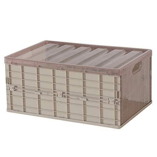 Maritown Faltbarer Organizer-Kasten, zusammenklappbarer Aufbewahrungsbehälter mit Deckel Kunststoff-Lagerplätze Großer Behälter für Decke, Kleidung, Bücher, unter dem Bett, in Autos