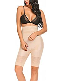 Qulista Faja Pantalón Cintura Alta Pantalones Adelgazantes Moldeador con Efecto Anti-Celulitis Push-up Sauna y Masajeador Talla Grande