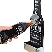 bullet point: This bottle opener allows you to easy opening with one hand. Mount on any wall or anywhere you like.nbsp; You will never have to hunt down the bottle opener again. Goes with literally any home decor, perfect for any man cave, bar, pub, ...