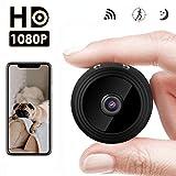 Mini Cámara Espía Oculta,HD 1080P WiFi cámara de Seguridad inalámbrica portátil por 150 Grados cámaras de...
