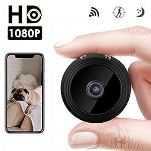 mini camaras inalambricas baratas: Mini Cámara Espía Oculta,HD 1080P WiFi cámara de Seguridad inalámbrica portátil ...
