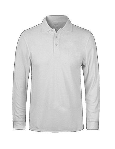 Molly Mens Casual Slim Fit Lapel Long Sleeve T Shirts