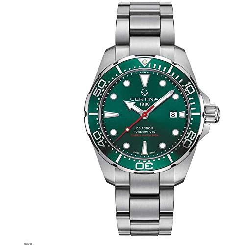 Certina Men's DS Action 43mm Steel Bracelet Automatic Watch C032.407.11.091.00