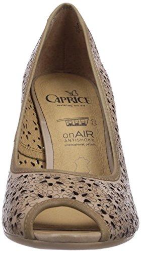 Caprice 29300 Damen Peep-Toe Pumps Braun (SAND/355)