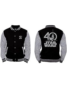 Star Wars - Logo 40 Years Hombres Chaqueta de colegio - Negro