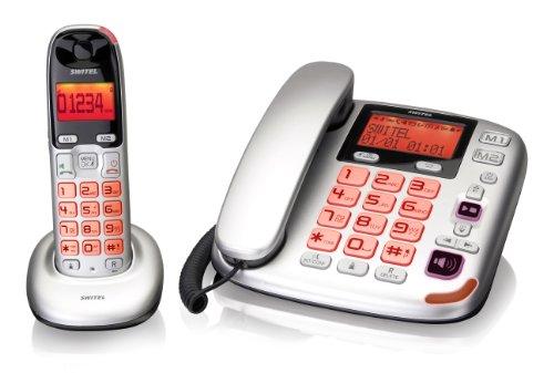 Switel DCT5872 Schnurlostelefon mit Anrufbeantworter (DECT)