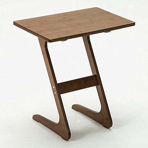 Full Love House Table d'appoint Table basse Table d'angle Etagère de rangement Creative Bois massif Protection de l'environnement Simple Mode Avec rangement Marron 55 * 35 * 60cm