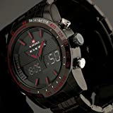 Fenkoo Herren Armbanduhr Japanischer Quartz LED / LCD / Kalender / Chronograph / Wasserdicht / Duale Zeitzonen / Alarm E