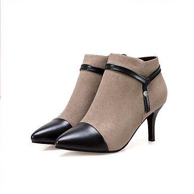 RTRY Scarpe Donna Tessuto Autunno Inverno Comfort Stivali Stiletto Heel Babbucce/Stivaletti Di Abbigliamento Casual Kaki Nero US8 / EU39 / UK6 / CN39
