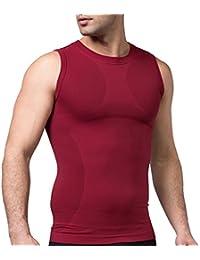 SODACODA Herren Sport Tank Top Kompression Shirt Funktionswäsche Base Layer Ärmellos
