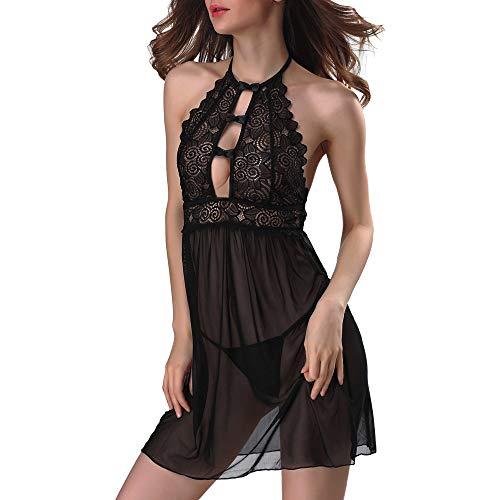 YOUBan Reizwäsche Damen Unterwäsche Sexy Dessous Sets Nachtwäsche G String Kleid Versuchung Transparente Nachtkleid Spitzenhöschen Unterwäschen