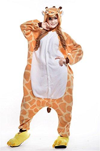 VU Roul Herren Erwachsene Kleidung Kigurumi Cosplay Kostüm Pyjama Giraffe Einteiler Gr. X-Large, Giraffe (Monster Inc Kostüme Uk)