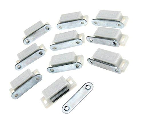 bianco-resistente-magnetico-porta-anta-dell-armadio-porta-supporto-chiusura-10pcs