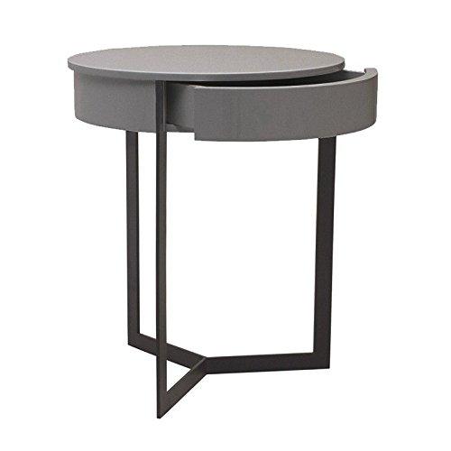 designement Winter Table de Nuit Bois, Laqué Gris, 45 x 45 x 54 cm