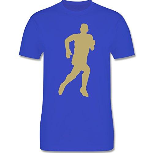 Laufsport - Laufen - Herren Premium T-Shirt Royalblau