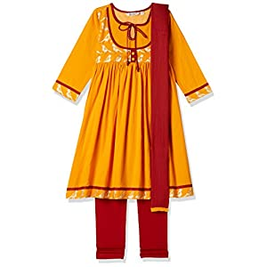 Karigari by Unlimited Girls' Regular Fit Dress Suit