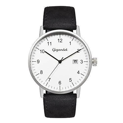 Gigandet Minimalism Reloj Hombre Analógico Cuarzo Plata Negro G26-001