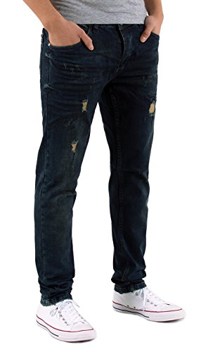 by-tex Herren Jeans Hose Slim Fit Jeanshose Destroyed Look Hose Stretch Used Look Jeans A435 A436