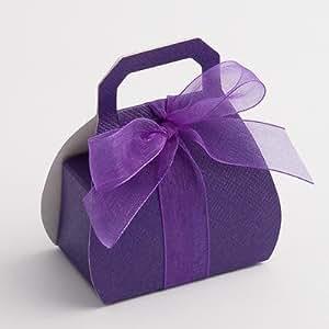 Sent 4 u ltd Lot de 100 boîtes à dragées pour mariage Violet Sac à main