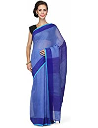 The Weave Traveller Handloom Women's Linen Saree With Banarasi Zari With Attached Blouse (TWT_L_YELZARI_144)