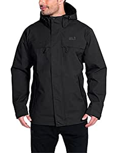 Jack Wolfskin Herren Wetterschutzjacke Wattiert North Country, black, S, 1102294-6000002