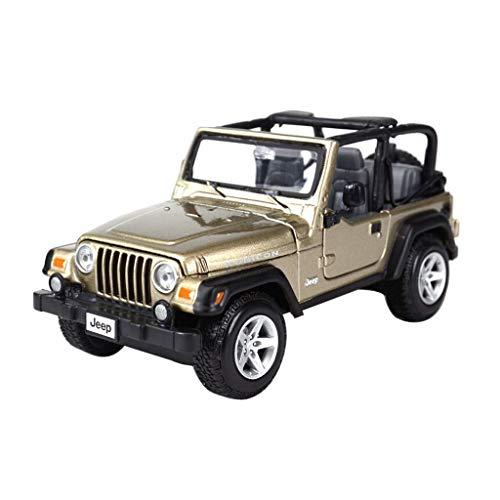 Maisto Modello Auto 1:24 High Simulator Modello in Metallo Auto Jeep Jeep Wrangler Model Car Lega Giocattoli per Bambini Collezione Regalo Scala Simulazione Veicolo ( Color : Green )