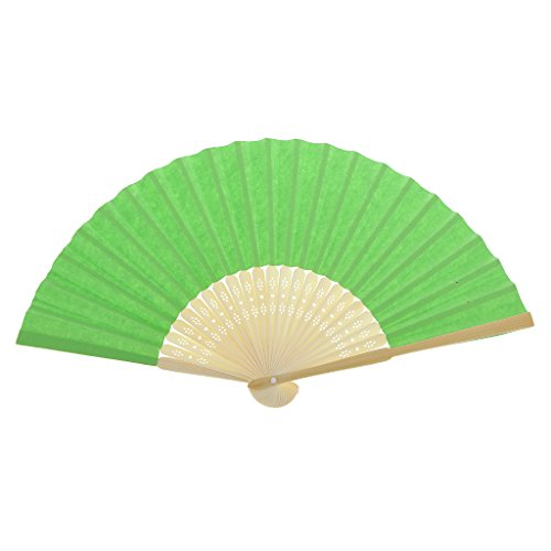Einseitiges DIY Fertigkeit Phantasie Tanzparty Papierhand Fan- Tief Grün - Grün