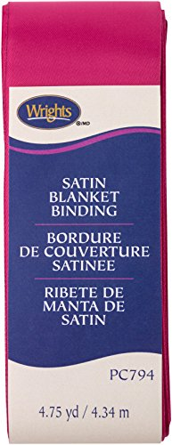Wright Produkte Single Fold Satin Decke Bindung, Hot Magenta, 5,1 cm X4-3/4 Yd -