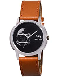 Watch Me Black Dial Brown Leather Strap Watch For Men And Boys WMAL-301-L WMAL-301-Lomt