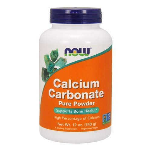 Now Foods: Calcium Carbonate Powder Supports Bone Health, 12 oz (2 pack) -